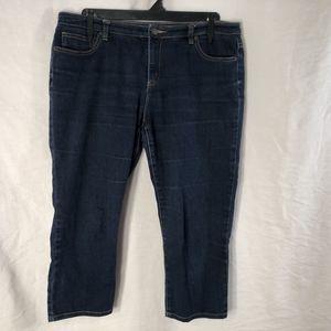 Michael Kors 14 Cropped Capri Jeans Blue MK 1061